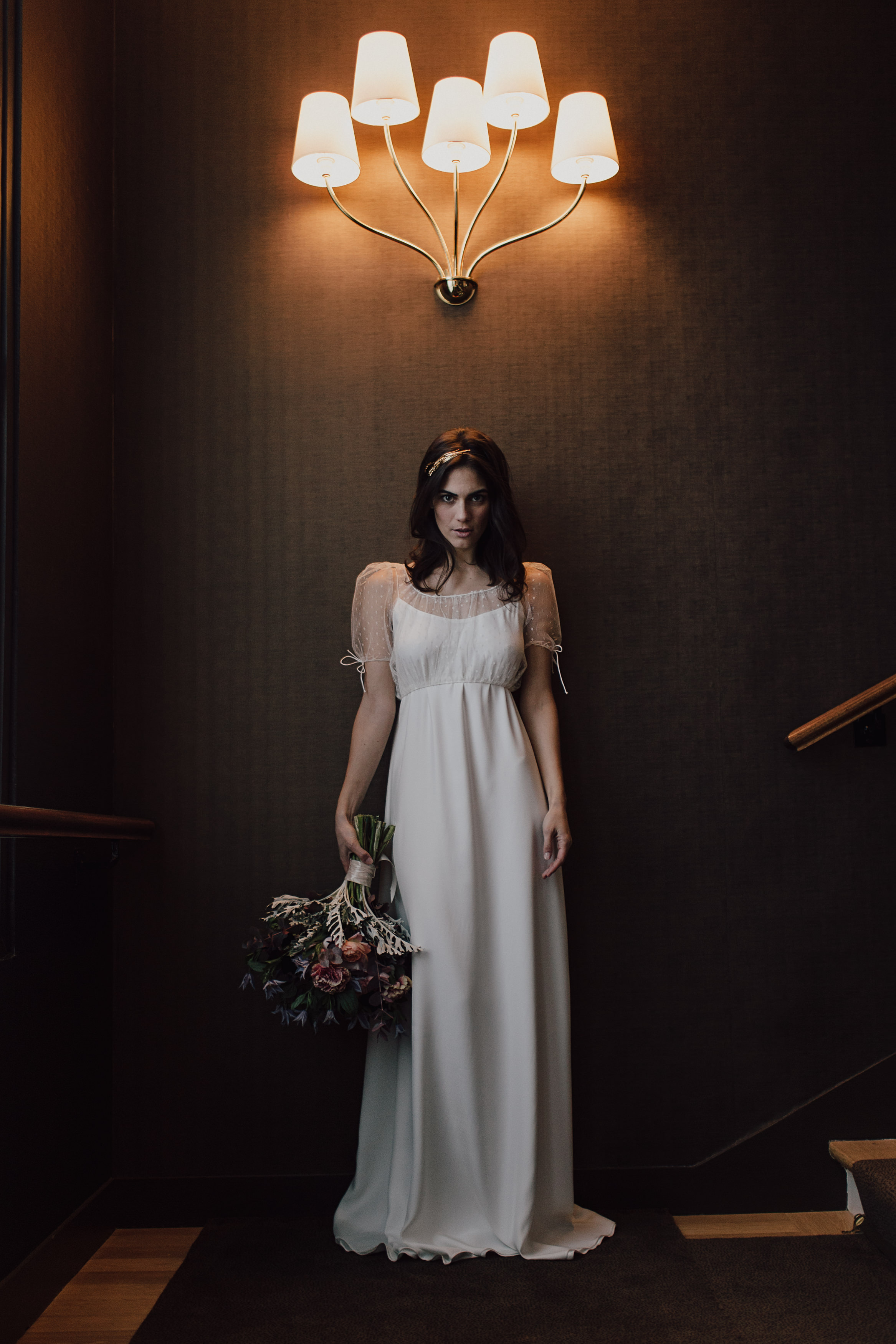 Wedding dresses Bohème Rock for modern brides ! Dress Serge and Bolero Eloise